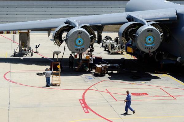 Фоторепортаж о  Boeing C-17 Globemaster III. Фото: Kevork Djansezian/Getty Images