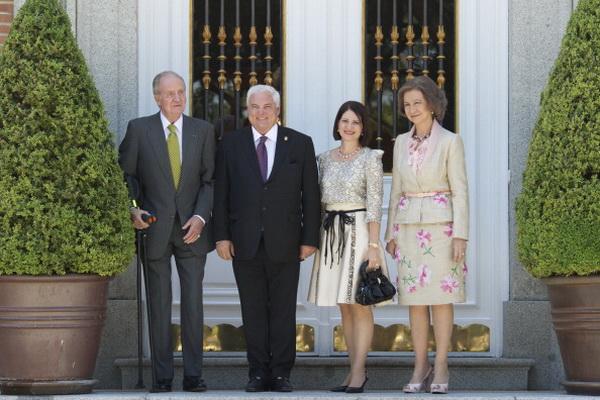 Фоторепортаж об аудиенции президента Панамы Рикарда Мартинелли у короля Испании Хуана Карлоса. Фото: Carlos Alvarez / Getty Images
