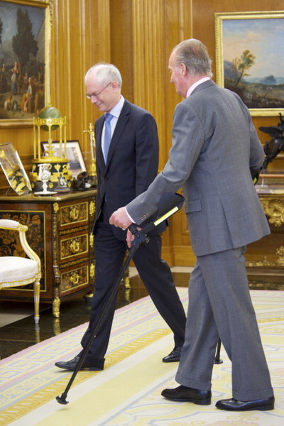 Фоторепортаж о приеме королем Испании Хуаном Карлосом президента Европейского союза Хермана Ван Ромпея. Фото: Carlos Alvarez/Getty Images