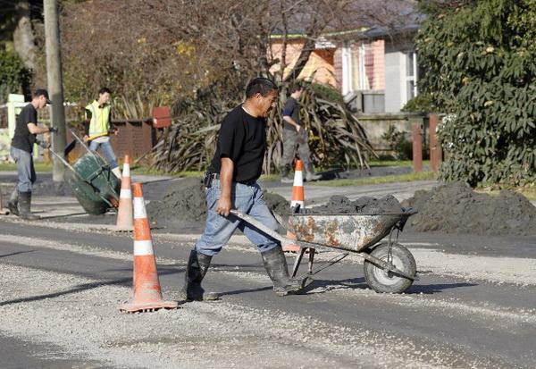 Фоторепортаж о повторном землетрясении в Крайстчерче. Фото: Martin Hunter/Getty Images