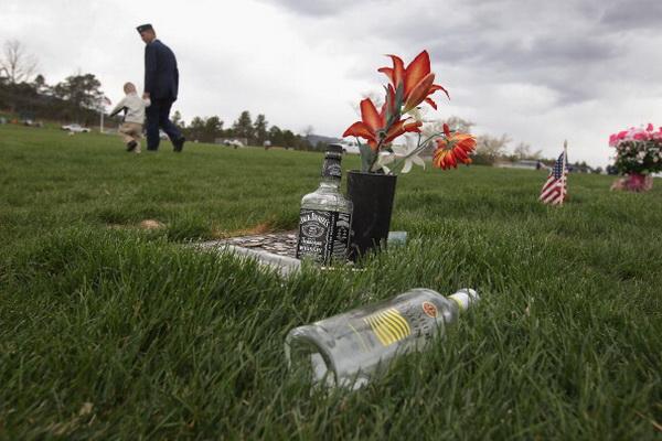 Фоторепортаж с похорон майора Дэвида Бродера, пилота ВВС США. Фото: John Moore/Getty Images