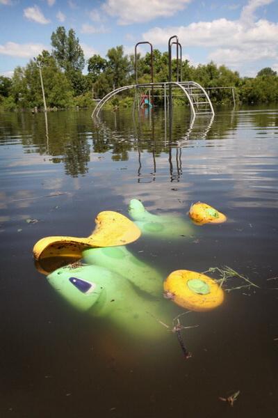 Фоторепортаж о затоплении в южных районах долины реки Миссисипи. Фото: Scott Olson/Getty Images