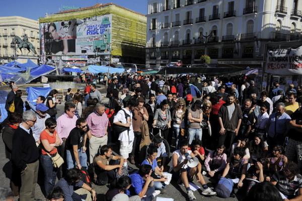 Фоторепортаж об акции протеста против безработицы в Мадриде. Фото: David Ramos/Getty Images