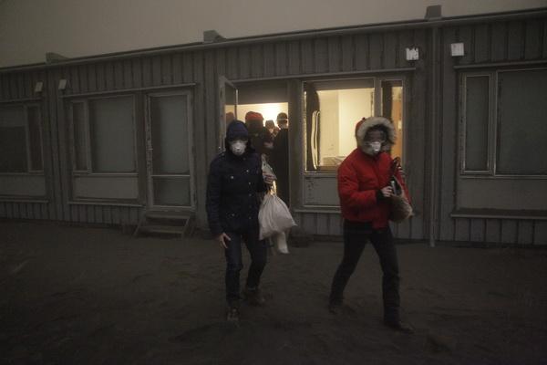Фоторепортаж об извержении вулкана Гримсвотн в Исландии. Фото: AFP PHOTO/Sigurlaug Linnet