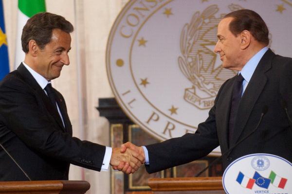 Саммит Берлускони-Саркози прошел в Риме. Фото: Giorgio Cosulich/Getty Images