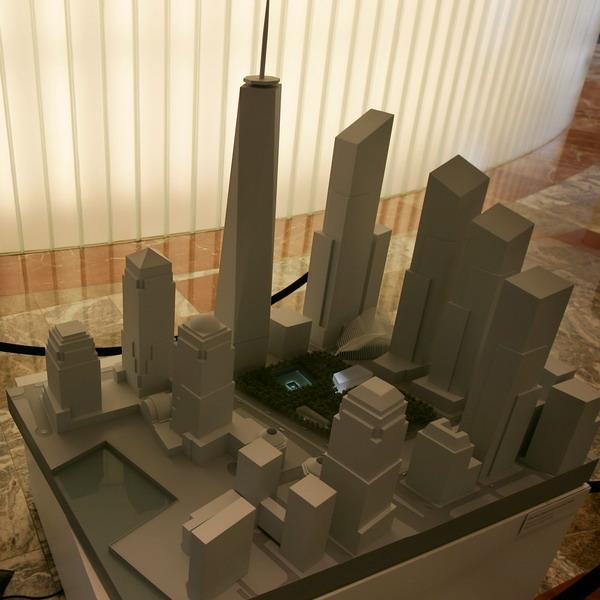 Макет комплекса зданий Всемирного торгового центра в Нью-Йорке. Фото: Spencer Platt/Getty Images
