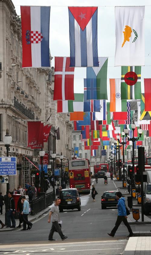 Лондон готовится к Олимпиаде-2012. Вид на праздничный город. Фото: Peter Macdiarmid/Getty Images