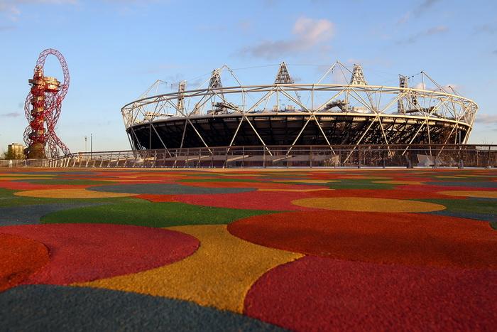 Лондон готовится к Олимпиаде-2012. Олимпийский стадион. Фото:  Clive Rose/Getty Images