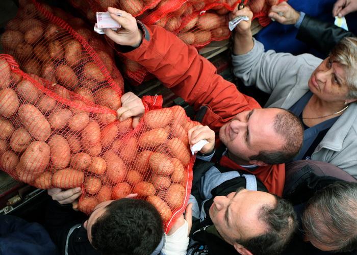 В мире падают цены на продукты. Фото: SAKIS MITROLIDIS/AFP/GettyImages