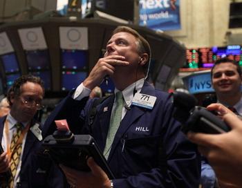 Фондовая биржа в Нью-Йорке. Утро 11 августа 2011 года перед открытыием. Фото: Mario Tama/Getty Images
