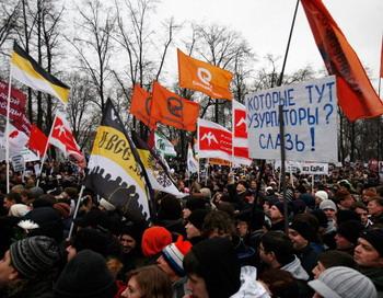 10 декабря на Болотной площади  прошел санкционированный  митинг оппозиции. Фото:  Harry Engels/Getty Images