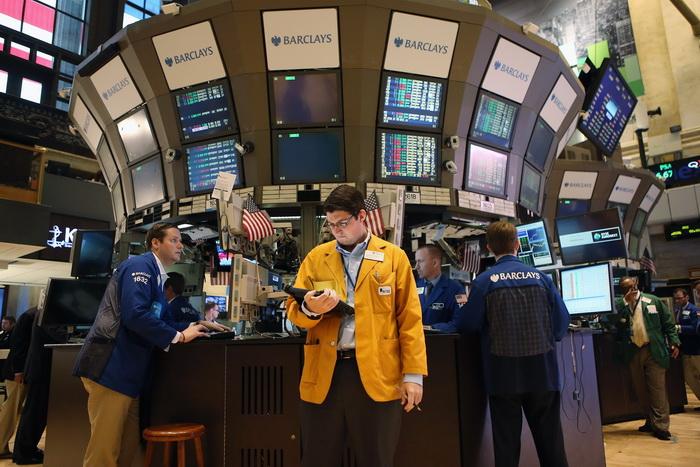 На фондовых торгах в Нью-Йорке. Фото: John Moore/Getty Images