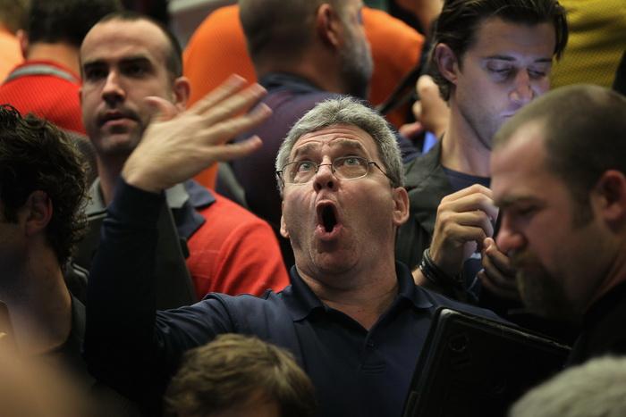 На фондовых торгах в Чикаго. Фото: Scott Olson/Getty Images