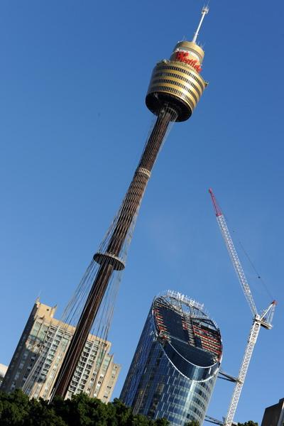 Такая впечатляюшая башня имеется только у торговых центров Westfield в Австралии. Фото: TORSTEN BLACKWOOD/AFP/Getty Images