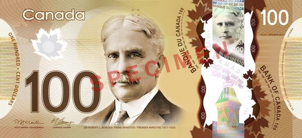 1.В денежный оборот Канады вошли пластковые банкноты. Фото с сайта bankofcanada.ca