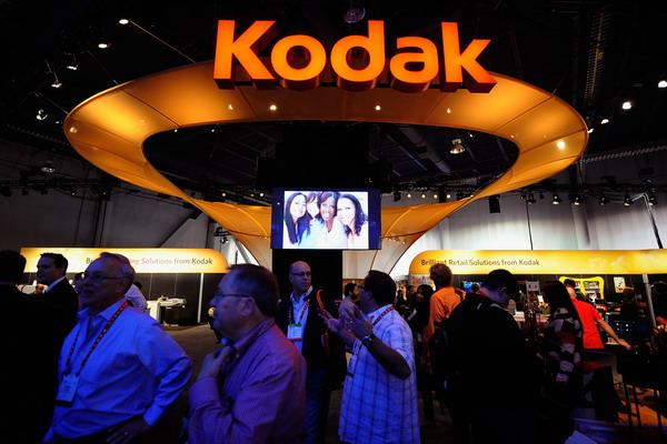 2.Закончилась эра фотоаппаратов Kodak. Информационный стенд Kodak на международной выставке в Лас Вегасе 12 января 2012 года. Фото: Kevork Djansezian / Getty Images