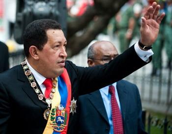 Президент Венесуэлы Уго Чавес во время  Национальной ассамблеи у здания Конгресса в Каракасе 15 января 2011 года. Фото: MIGUEL GUTIERREZ/AFP/Getty Images