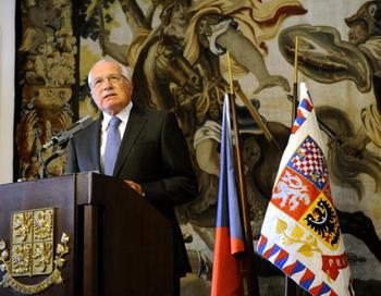 Президент Чешской Республики Вацлав Клаус. MICHAL CIZEK/AFP/Getty Images
