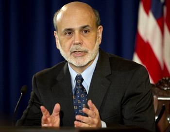 Руководитель Федеральной резервной системы (ФРС) США Бен Бернаке. Фото: JIM WATSON/AFP/Getty Images