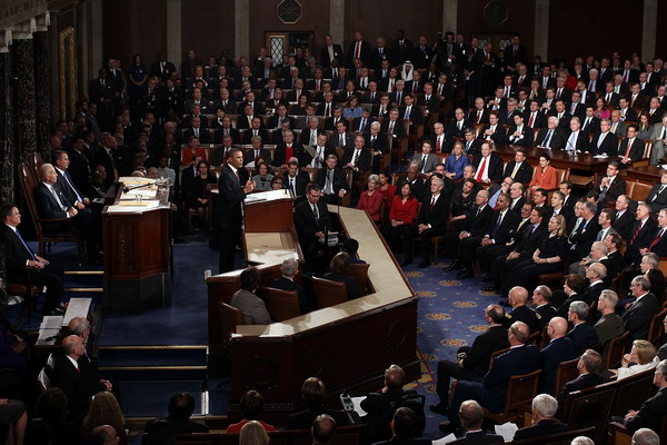 Президент Барак Обама произносит речь. Фото: Win McNamee/Getty Images