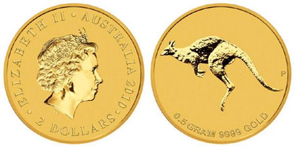 Золотая монета Австралии. Фото с сайта gcoins.net