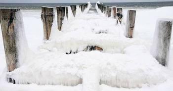 В Европе холодно потому, что на северном полюсе стало меньше льда. Фото: tagesspiegel.de