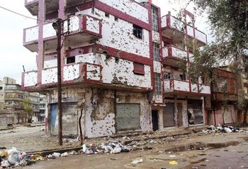 Город Хомс подвергается ежедневным обстрелам войсками Асада. Фото: Фото: spiegel.de