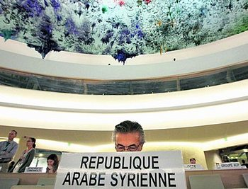 Посол Сирии в ООН Файзал Хаббаз Хамой выслушал резкую критику Совета ООН по правам человека. Следователи ООН будут расследовать ситуацию на его родине. Фото: derstandard.at