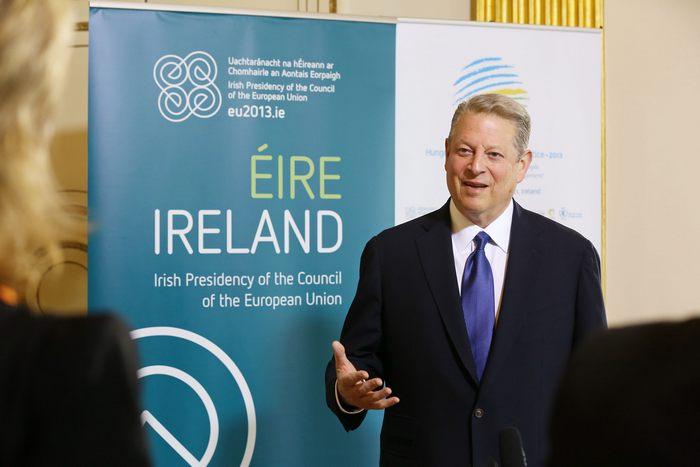 На конференции в Дублине (Ирландия) рассмотрели взаимосвязь перемены климата с производством продуктов питания. 16 апреля 2013 г. Фото: Justin Mac Innes/2013 Dept of the Taoiseach via Getty Images