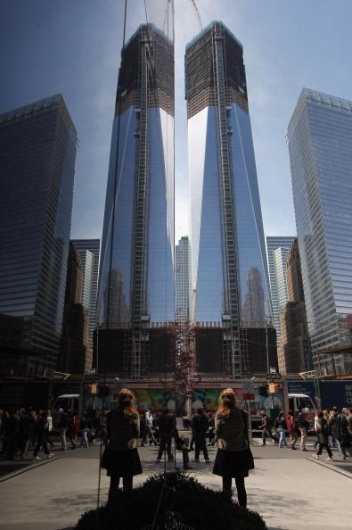 Строительство небоскрёба «Башня Свободы» в Нью-Йорке продолжается. Фоторепортаж. Фото: Mario Tama/Getty Images