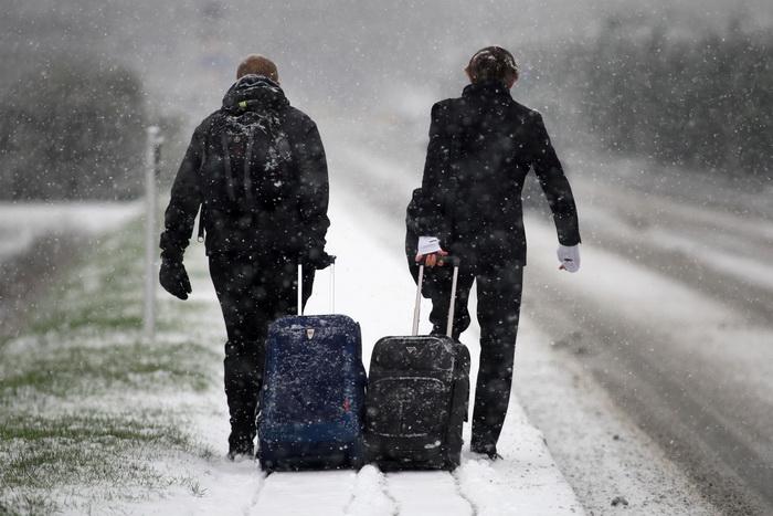 Сильные снегопады в Великобритании, 17 января 2013 года. Фото: Jordan Mansfield/Getty Images
