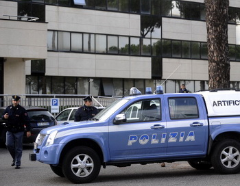 Итальянская полиция. Фото: FILIPPO Монтефорте / AFP / Getty Images