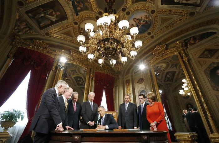 Иннаугурационная церемония у Капитолия, Вашингтон, США, 21 января 2013 года. Фото: Jonathan Ernst-Pool/Getty Images