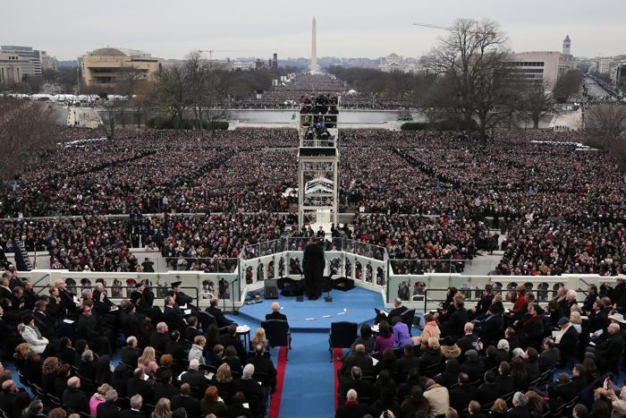 Иннаугурационная церемония у Капитолия, Вашингтон, США, 21 января 2013 года. Фото: Rob Carr-Pool/Getty Images