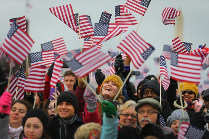 Иннаугурационная церемония у Капитолия, Вашингтон, США, 21 января 2013 года. Фото: Joe Raedle / Getty Images