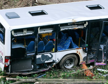 Разбившийся автобус. Фото:  Juergen Schwarz/Getty Images