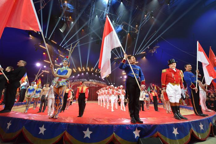 Княжество Монако провело международный фестиваль цирка в Монте-Карло, 22 января 2013 года. Фото: Pool/Monaco Centre de Presse via Getty Images