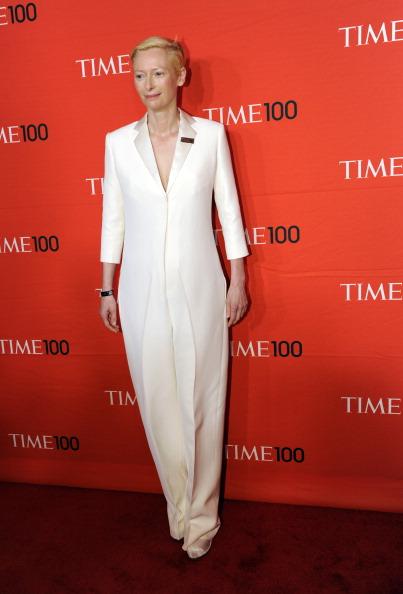 Тильда Суинтон, британская киноактриса, на праздновании Гала-100 в Нью-Йорке. Фоторепортаж. Фото: Fernando Leon/Getty Images for TIME