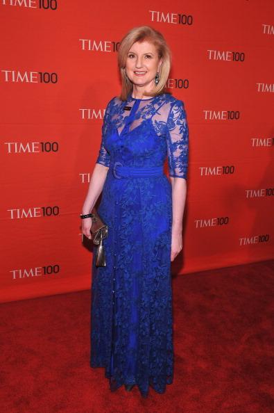 Арианна Хаффингтон, греко-американская писательница и журналистка,  на праздновании Гала-100 в Нью-Йорке. Фоторепортаж. Фото: Fernando Leon/Getty Images for TIME