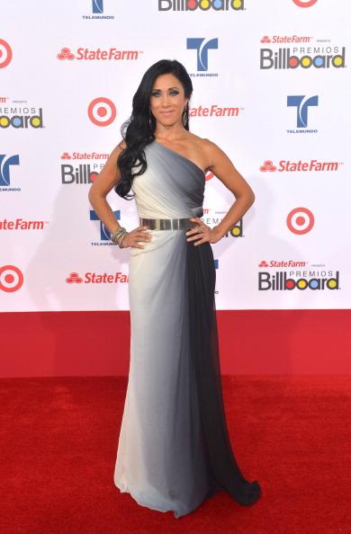 Моника Ногуера (Monica Noguera), мексиканская телеведущая, на церемонии вручения музыкальных премий Billboard Latin Music Awards 2012 в Майами. Фоторепортаж. Фото: Rodrigo Varela/Getty Images