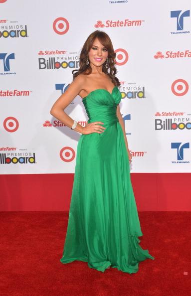 Ванесса Вильела (Vanessa Villela), мексиканская актриса и певица, на церемонии вручения музыкальных премий Billboard Latin Music Awards 2012 в Майами. Фоторепортаж. Фото: Rodrigo Varela/Getty Images
