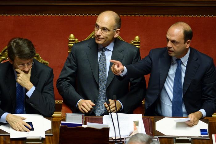 Итальянский Сенат выразил доверие правительству Летта. Фото:  FILIPPO MONTEFORTE/AFP/Getty Images