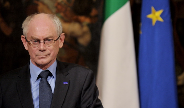 Председатель Совета ЕС Херман Ван Ромпей. Фото: TIZIANA FABI/AFP/Getty Images