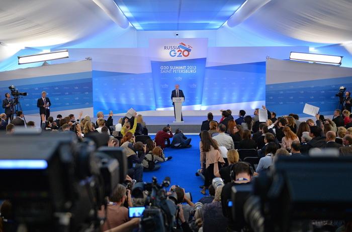 В Санкт-Петербурге открылся форум G20. Фото: Alexander Vilf/Host Photo Agency via Getty Images