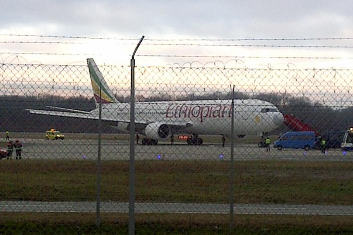 Boeing 767, следовавший из Эфиопии в Рим. Фото: PIERRE TAILLEFER/AFP/Getty Images