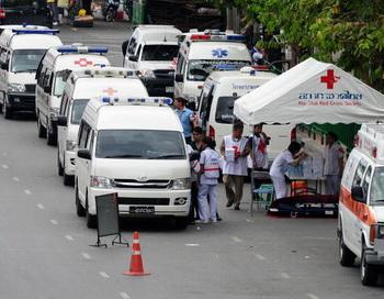 Автобус с российскими туристами перевернулся в Таиланде, один человек погиб. Фото: PORNCHAI KITTIWONGSAKUL/AFP/Getty Images