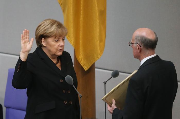 Ангела Меркель в третий раз приняла присягу на посту канцлера. Фото: Sean Gallup/Getty Images