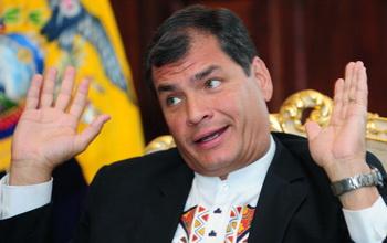 Рафаэль Корреа. Фото: RODRIGO BUENDIA/AFP/Getty Images
