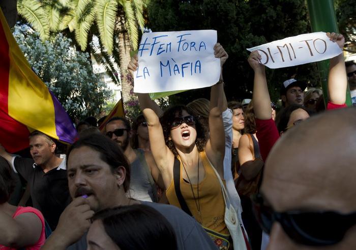Майорка: 80 000 жителей протестуют против реформы образования. Фото: JAIME REINA/AFP/Getty Images