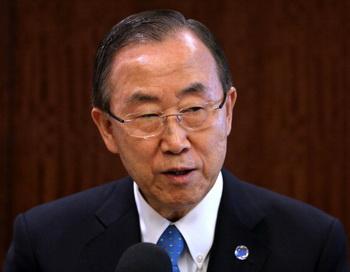 Генеральный секретарь ООН Пан Ги Мун. Фото: John Moore/Getty Images